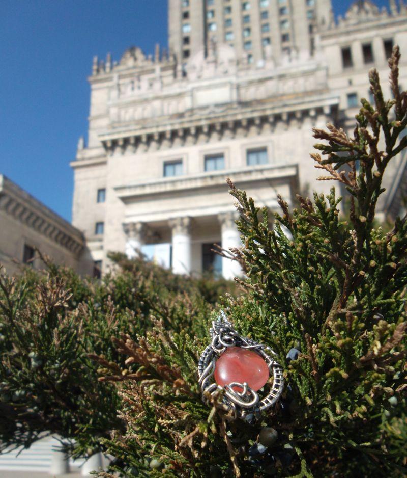 Biżuteria w wielkim mieście - kwarc wiśniowy