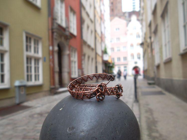 Gdańskie uliczki i kolczyki wire-wrapping - Biżuteria w Gdańsku